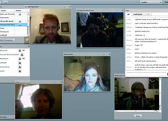 Online moneyless family meeting, Oct 2010